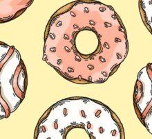 Pink Hue Doughnut Pattern Sticker