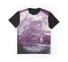 moon purple Graphic T-Shirt