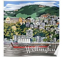 Wellington Harbour by Ira Mitchell-Kirk Poster