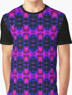 Purple Black Pink Blue Pattern Graphic T-Shirt