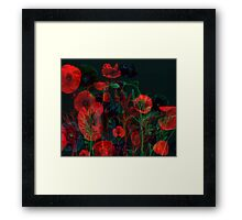 Ghost Poppies  Framed Print