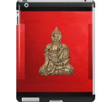 Sacred Symbols - Gold Buddha on Black and Red  iPad Case/Skin