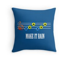 Make it Rain Throw Pillow