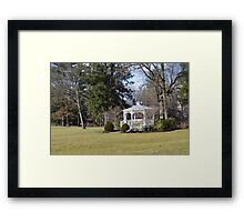 White Gazebo, Grove City College Framed Print