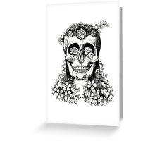 Floral Skull - Decay Greeting Card