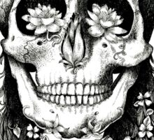 Floral Skull - Decay Sticker