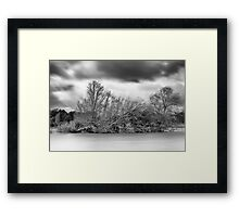 Cold Winter Day on the Lake Framed Print