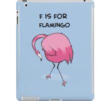 F is for Flamingo iPad Case/Skin