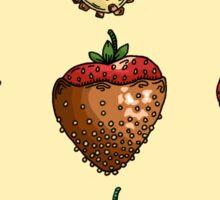 Delicious Chocolate Covered Strawberry Box Sticker