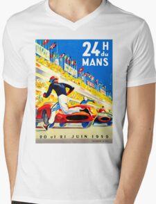 """""""MANS"""" 24 Hour Grand Prix Auto Race Mens V-Neck T-Shirt"""