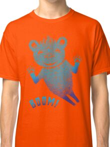Turquoise Bear Goes Boom Classic T-Shirt