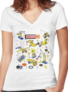 Vintage Meccano UK Women's Fitted V-Neck T-Shirt