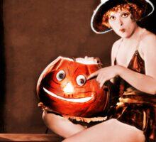 Clara and the Jack-o-lantern Sticker