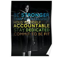 Be Stronger Than Your Excuses Poster