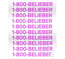 Justin bieber 1-800-BELIEBER  Poster