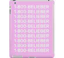 Justin bieber 1-800-BELIEBER  iPad Case/Skin