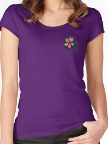 Pink flower burst  Women's Fitted Scoop T-Shirt