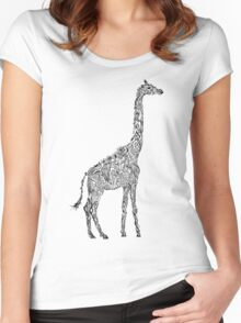 Tallest on Earth Giraffe Women's Fitted Scoop T-Shirt