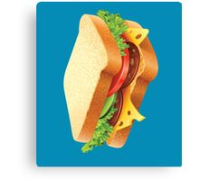 SALAMI CHEESE AND TOMATO SANDWICH Canvas Print