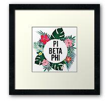 PI BETA PHI aloha Framed Print