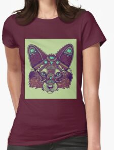Tribal Fox - Zentangle Womens Fitted T-Shirt