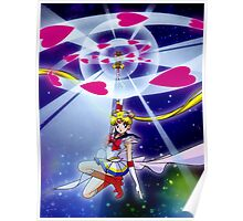 Moon Spiral Heart Attack Poster