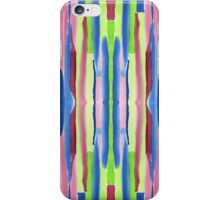 Watercolor Vertical Stripes Pattern Red Blue Green iPhone Case/Skin