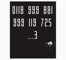 Police Number from the IT Crowd Kids Tee