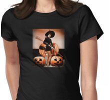 Retro Pinup for Halloween Womens Fitted T-Shirt