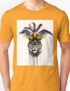 Carnival - Ink and Charcoal Burlesque Tiger Portrait T-Shirt