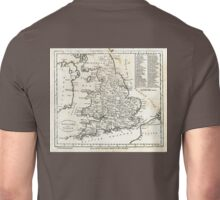 c1810 Map of England And Wales Unisex T-Shirt