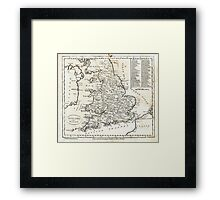 c1810 Map of England And Wales Framed Print