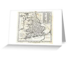 c1810 Map of England And Wales Greeting Card