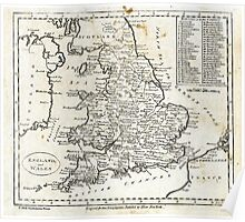 c1810 Map of England And Wales Poster