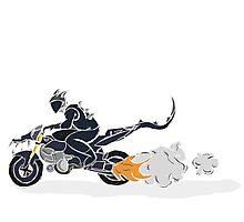 Motorcycle Demon Photographic Print