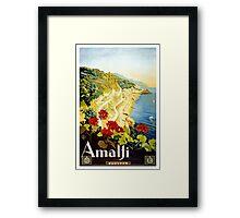 Vintage Amalji Italy Framed Print