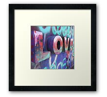 Graffiti with Love Framed Print