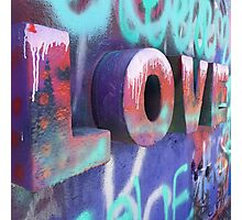 Graffiti with Love Photographic Print
