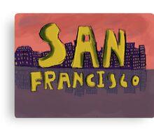 San Francisco Postcard Canvas Print