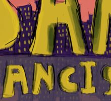 San Francisco Postcard Sticker