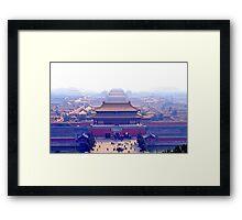 Forbidden city complex in Beijing, China Framed Print