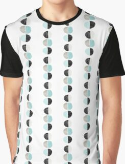 Abstract half circles in turquoise, black and gray Graphic T-Shirt