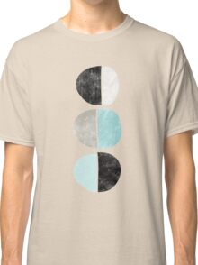 Abstract half circles in turquoise, black and gray Classic T-Shirt