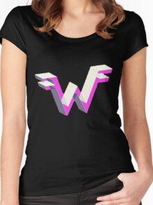 Weezer logo 3D Women's Fitted Scoop T-Shirt