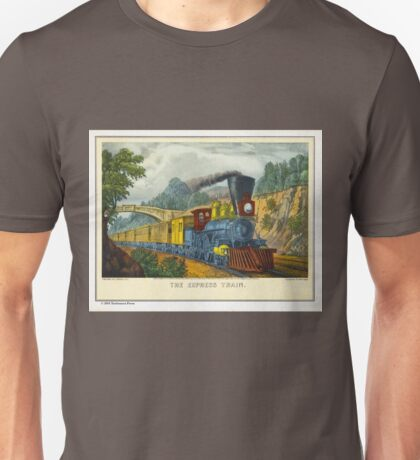 Currier & Ives Print The Express Train Unisex T-Shirt