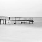 The Lonely Pier - B/W by Katayoonphotos