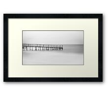 The Lonely Pier - B/W Framed Print