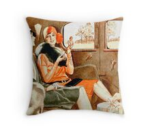 The Great Gatsby ladies out on a trip Throw Pillow