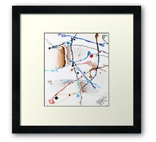 abstract water color Framed Print