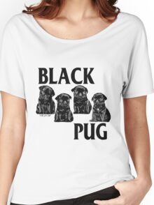 black pug Women's Relaxed Fit T-Shirt